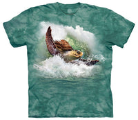 Surfin' Sea Turtle Adults T-Shirt