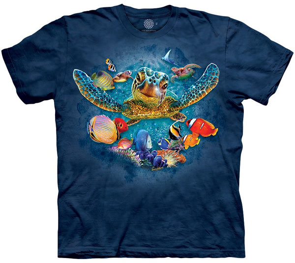 Tiny Bubbles Turtles Adults T-Shirt