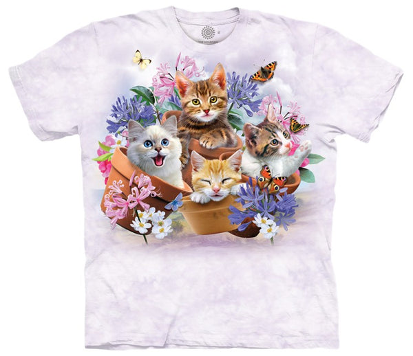 Garden Wonders Cats Adults T-Shirt