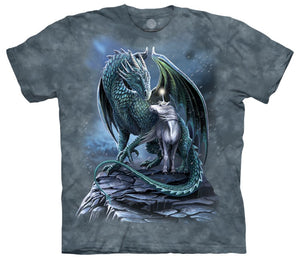 Protector of Magic Unicorn & Dragon Adults T-Shirt
