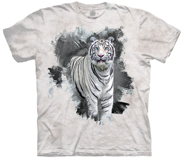 Eyes of Ice White Tiger Adults T-Shirt