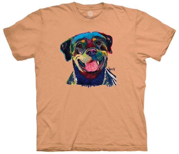 Happy Rottweiler Adults T-Shirt