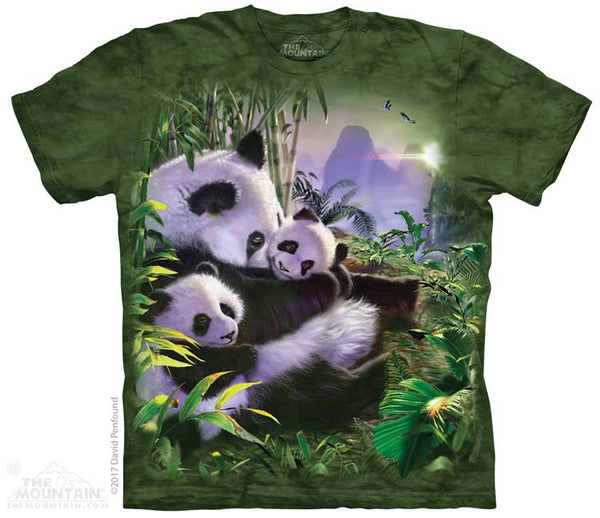 Panda Cuddles Adults T-Shirt