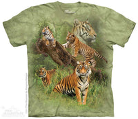Wild Tiger Collage Adults T-Shirt