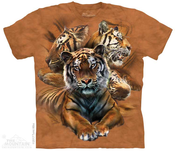 Resting Tiger Collage Adults T-Shirt
