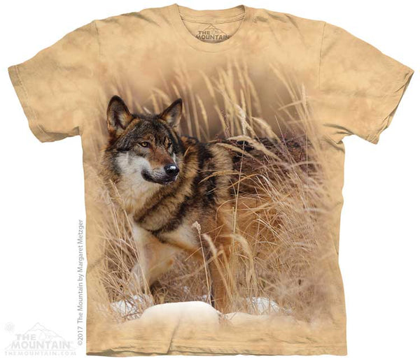 Winter Wolf Portrait Adults T-Shirt