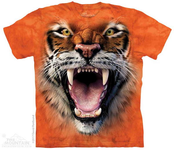 Roaring Tiger Face Adults T-Shirt