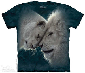 White Lions Love Adults T-Shirt