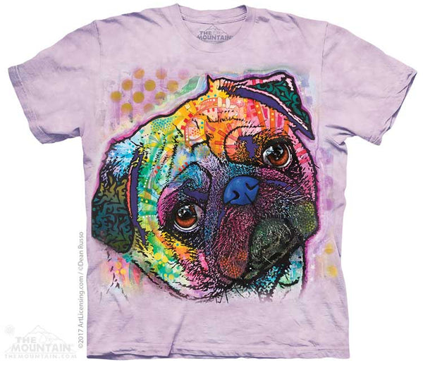 Lovable Pug Adults T-Shirt