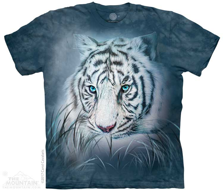 Thoughtful White Tiger Adults T-Shirt