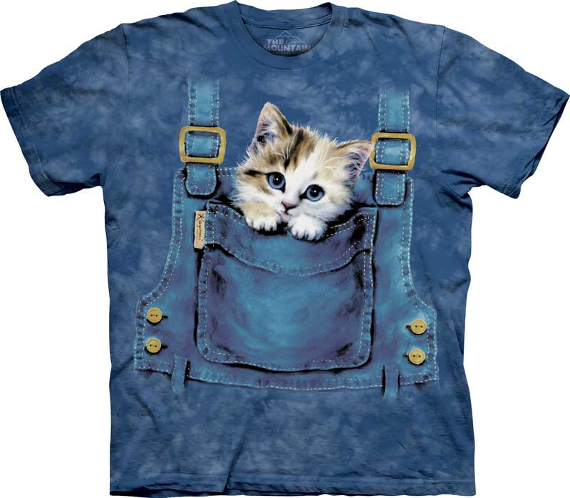 Kitty Overalls Adults T-Shirt