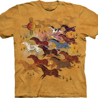 Horses and Sun Adults T-Shirt