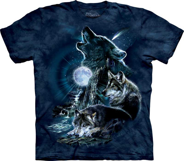 Bark at The Moon Wolf Adults T-Shirt