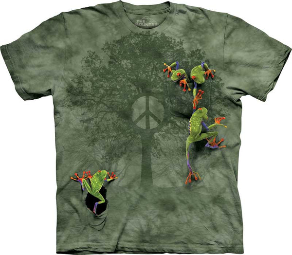 Peace Tree Frog Adults T-Shirt