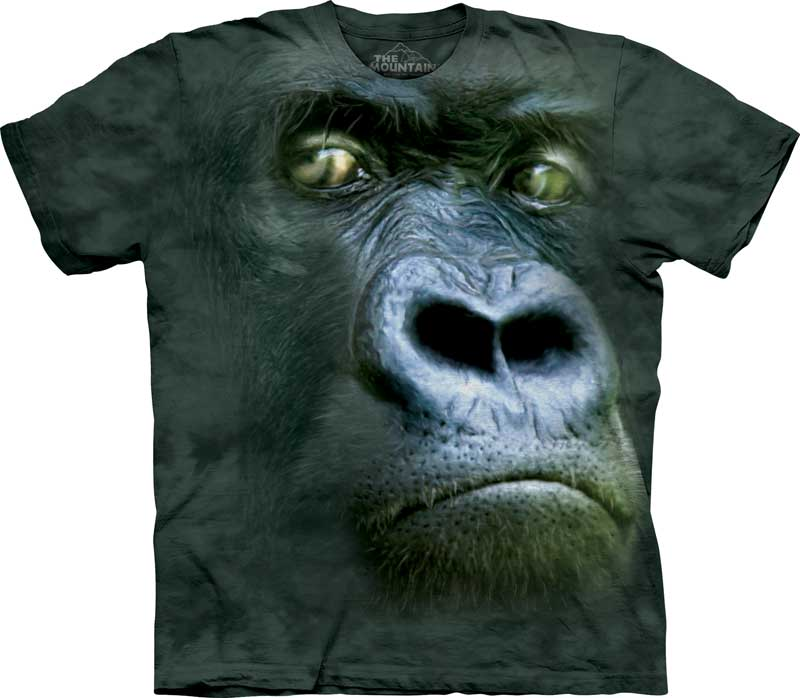 Silverback Gorilla Portrait Adults T-Shirt