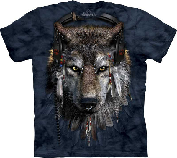 DJ Fen Wolf Adults T-Shirt