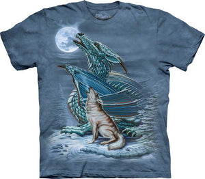 Dragon Wolf Moon Adults T-Shirt