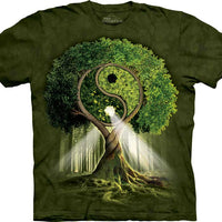 Yin Yang Tree Adults T-Shirt