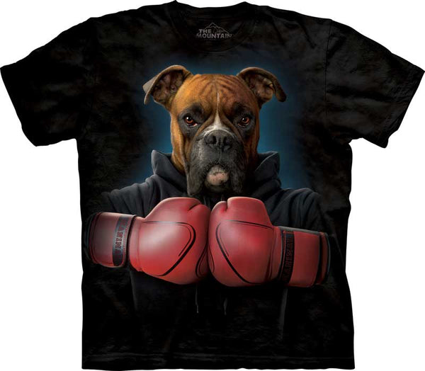 Boxer Rocky Adults Dog T-Shirt