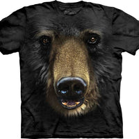 Black Bear Face Adults T-Shirt