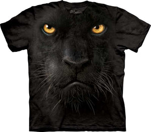 Black Panther Face Adults T-Shirt