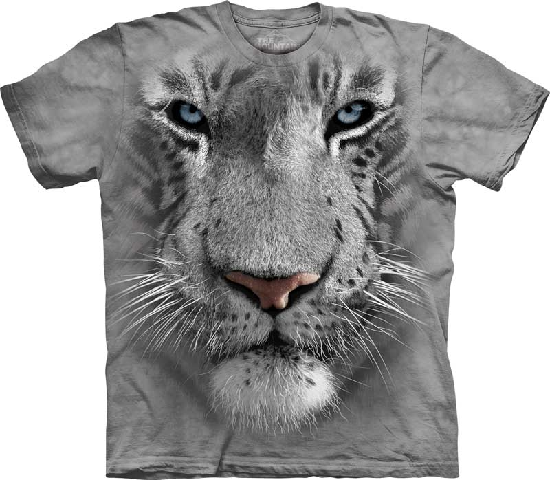 White Tiger Face Adults T-Shirt