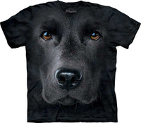 Black Labrador Face Adults T-Shirt