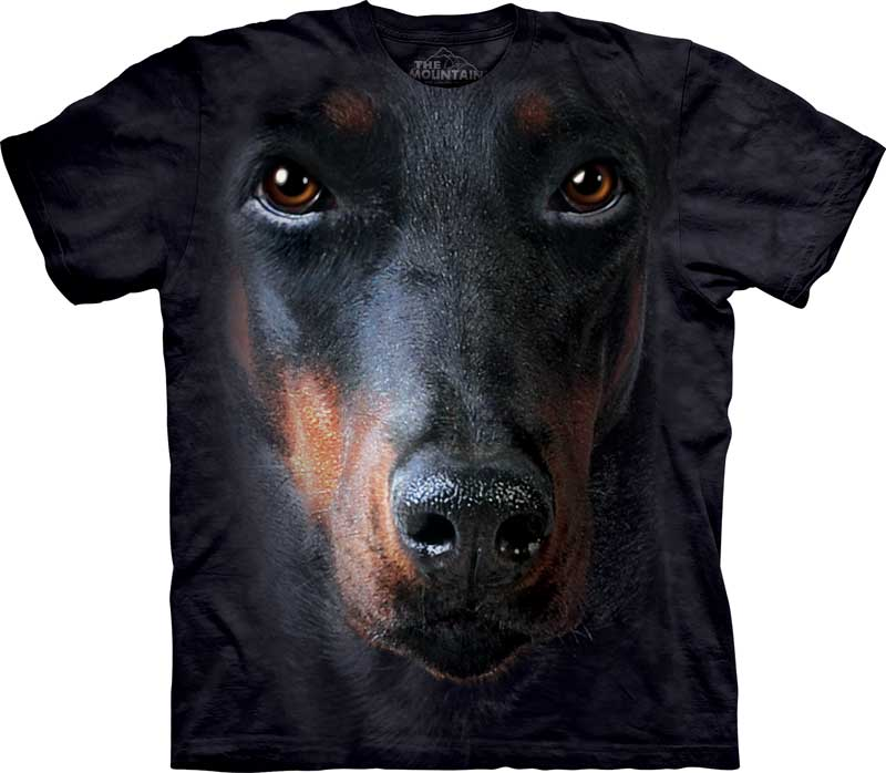 Doberman Face Adults T-Shirt
