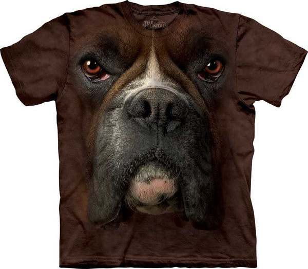 Boxer Dog Face Adults T-Shirt