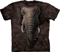 Elephant Face Adults T-Shirt