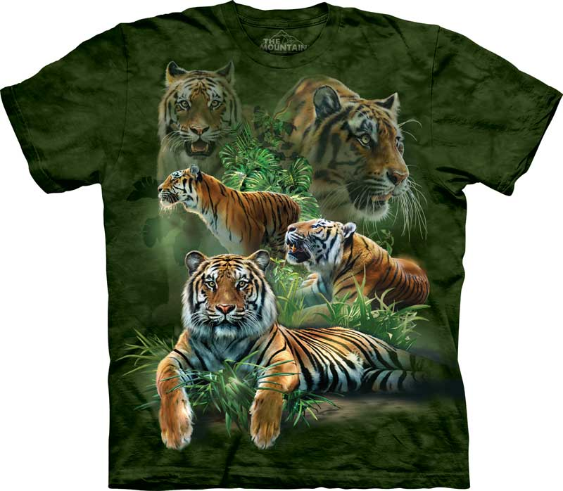 Jungle Tigers Adults T-Shirt