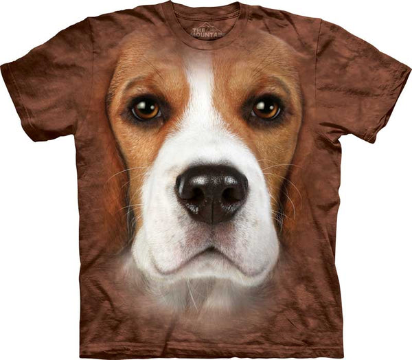 Beagle Dog Face Adults T-Shirt