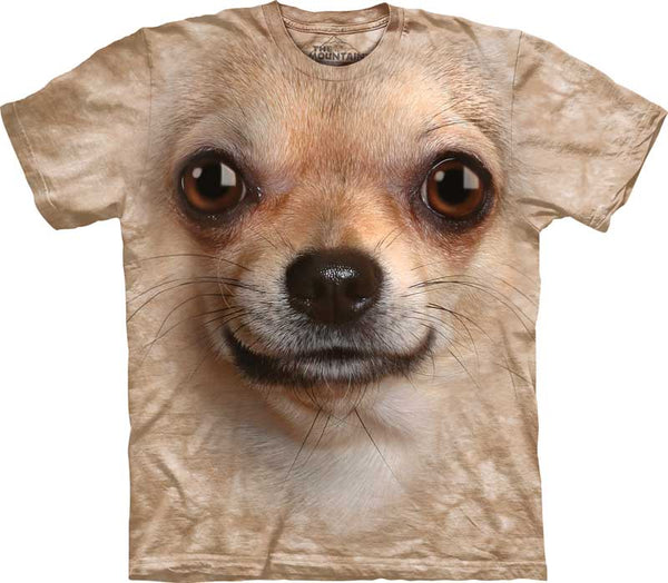 Chihuahua Dog Face Adults T-Shirt