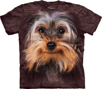 Yorkshire Terrier Dog Face Adults T-Shirt