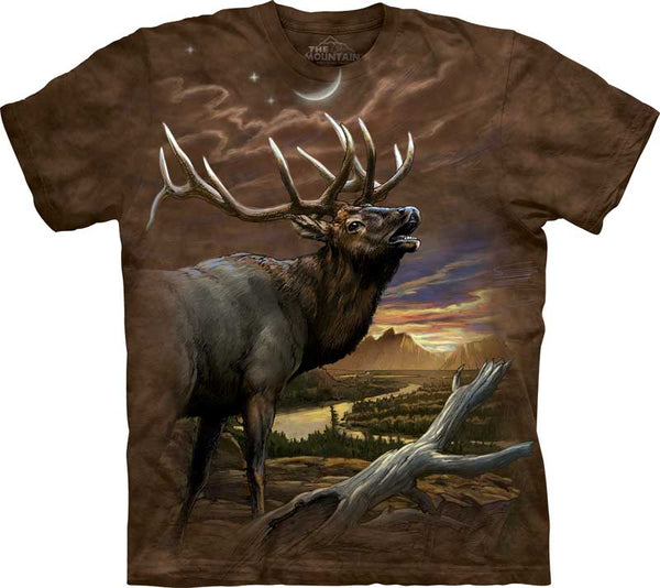 Elk At Dusk Adults T-Shirt