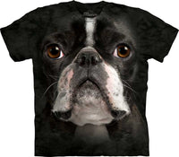 Boston Terrier Dog Face Adults T-Shirt