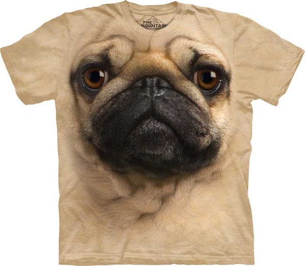 Pug Dog Face Adults T-Shirt