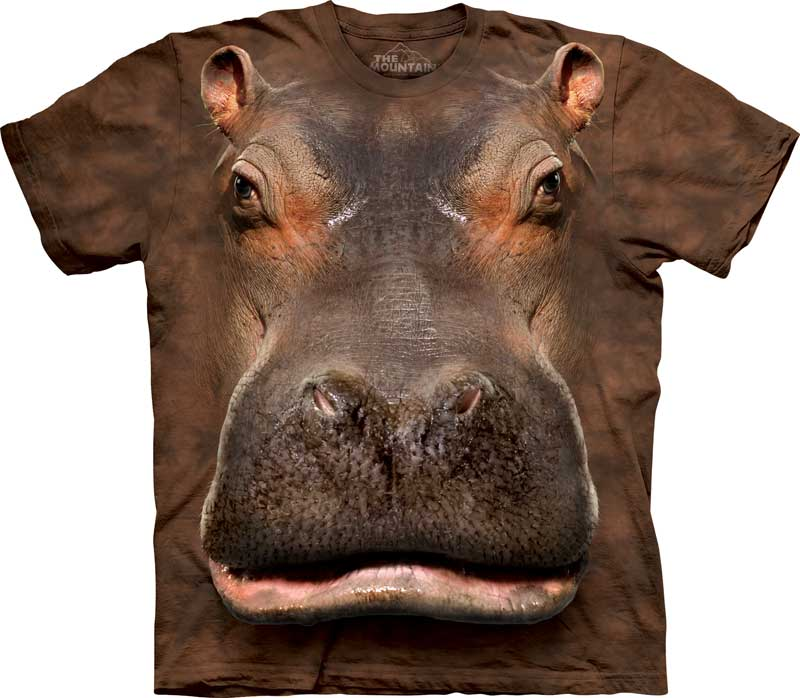 Hippo Head Adults T-Shirt