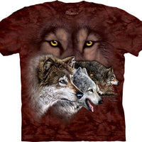 Find 9 Wolves Adults T-Shirt