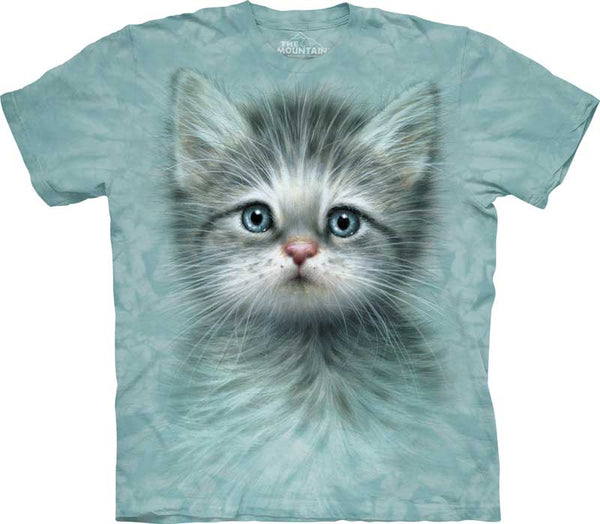 Blue Eyed Kitten Adults T-Shirt