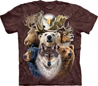 Northern Wildlife Collage Adults T-Shirt