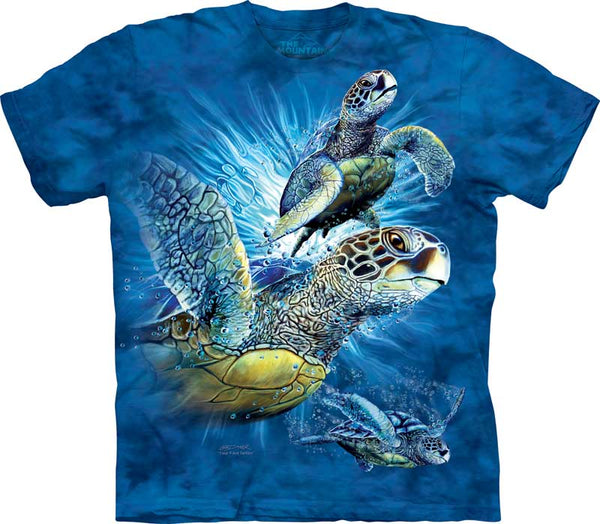 Find 9 Sea Turtles Adults T-Shirt