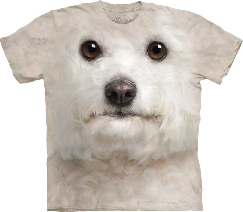 Bichon Frise Dog Face Adults T-Shirt