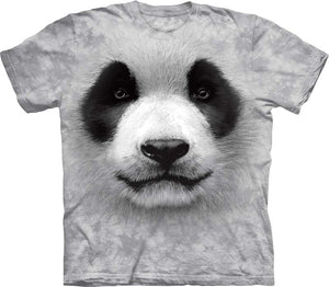 Big Face Panda Adults T-Shirt