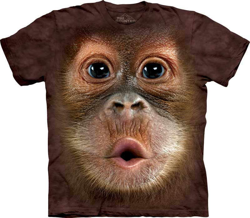 Baby Orangutan Face Adults T-Shirt