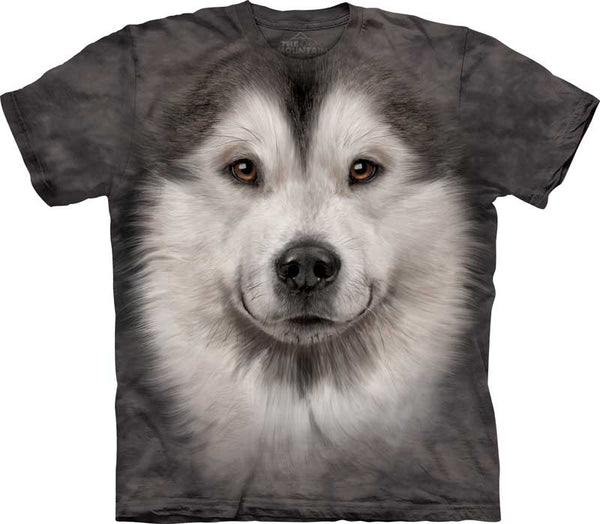 Alaskan Malamute Dog Face Adults T-Shirt