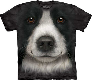 Border Collie Dog Face Adults T-Shirt