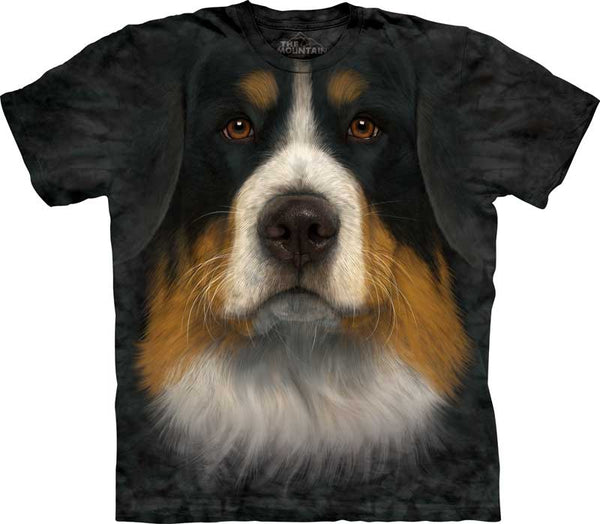 Bernese Mountain Dog Face Adults T-Shirt