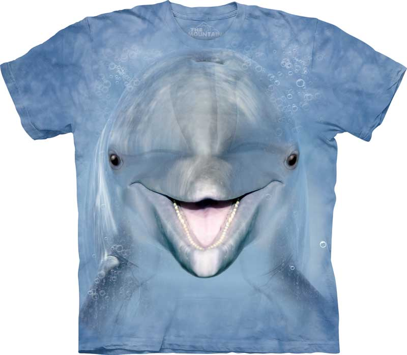 Dolphin Face Adults T-Shirt