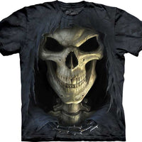 Death Face Grim Reaper Adults T-Shirt